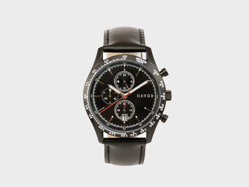 Elliot Havok - Diamond Black Racer Chronograph - 42mm