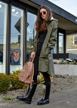 af13db61e5fd Ilse Jacobsen Army Green Raincoat – GIBRAN