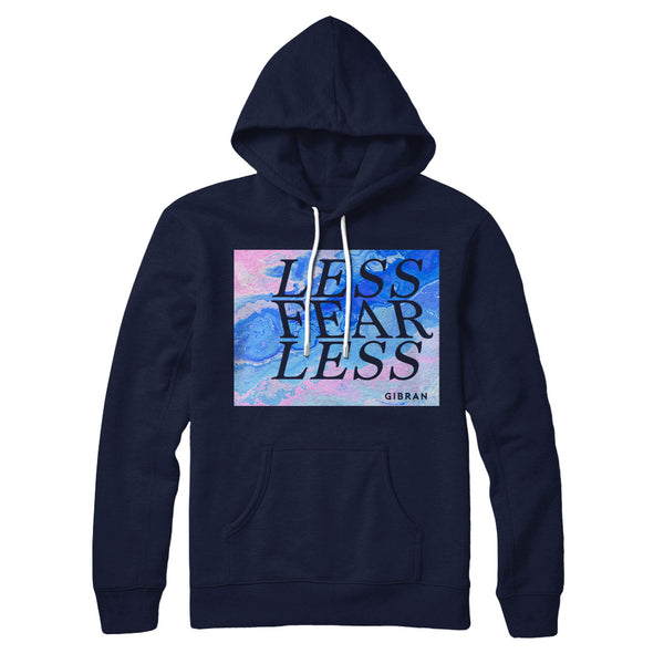 Less Fear Less Marble Art Hoodie
