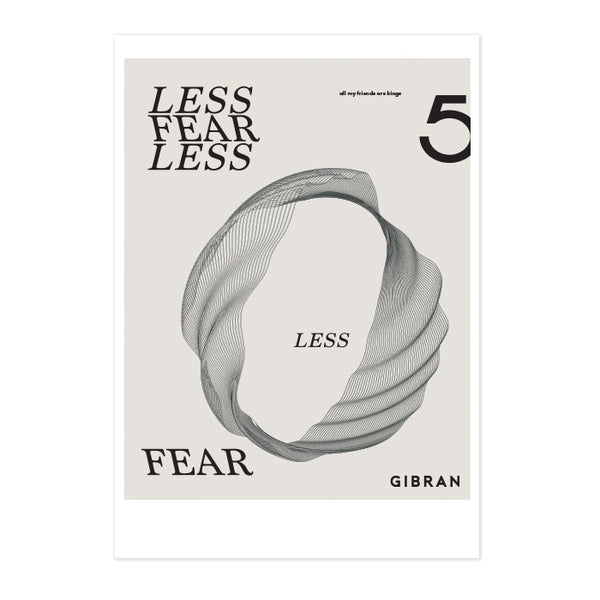 Less FearLess Geo Art Print