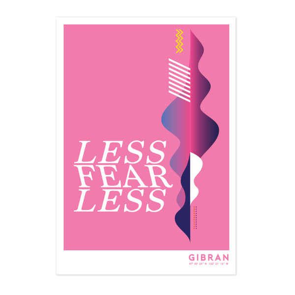 Less FearLess Abstract Art Print