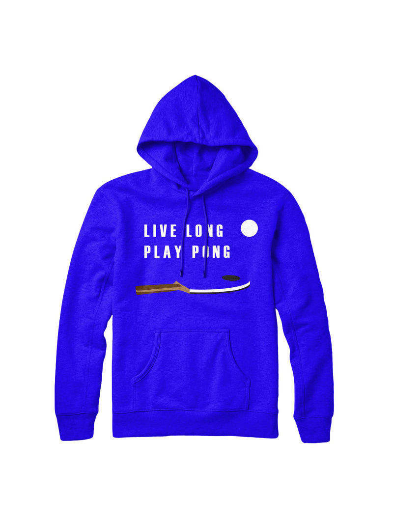 Live Long Play Pong Blue Hoodie
