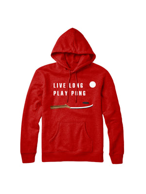 Live Long Play Pong Red Hoodie