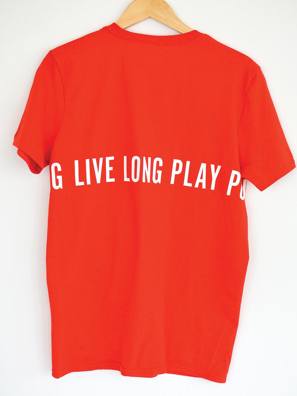 Live Long Play Pong Wrap Around Tee