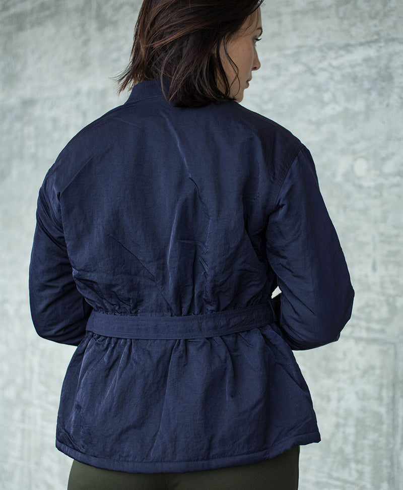 Blue Zippered Bomber