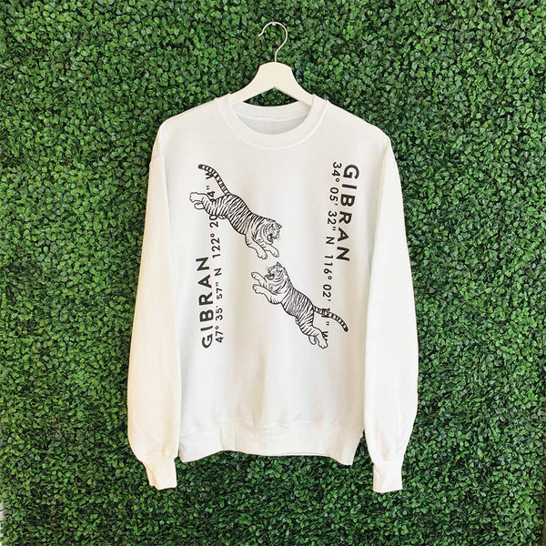 Dueling Tigers White Sweatshirt