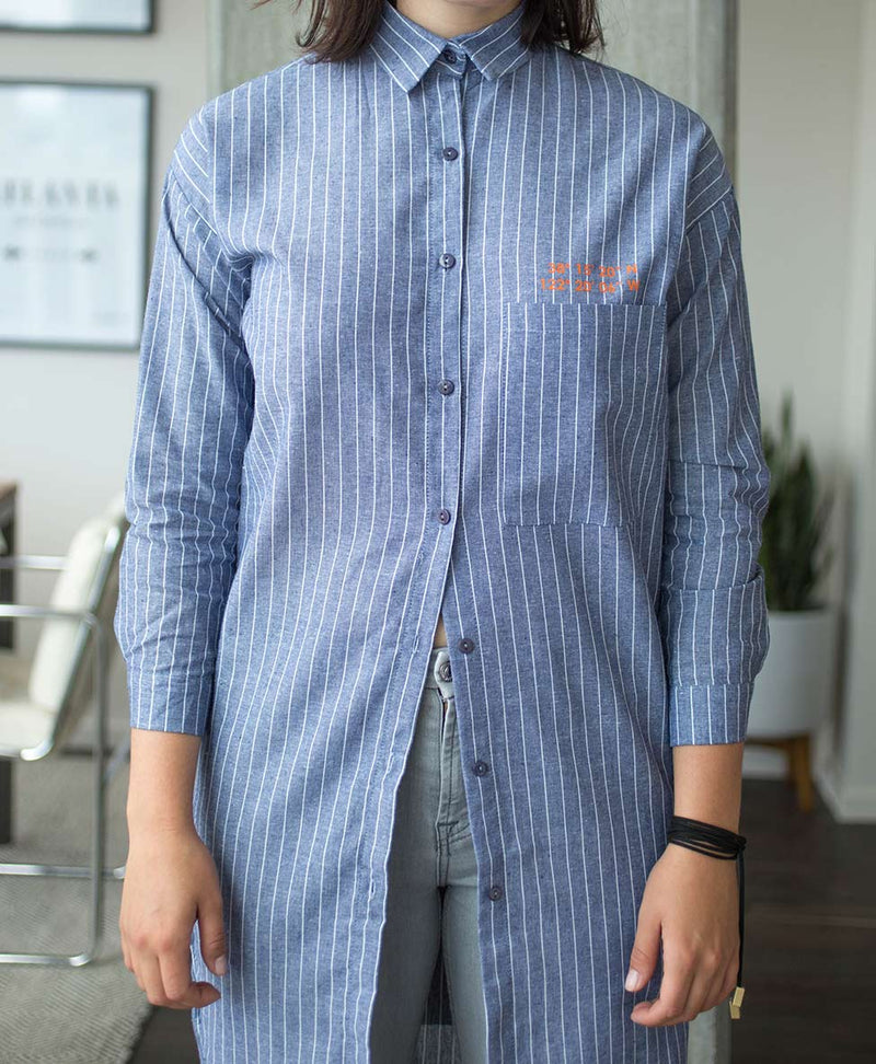 Sunset Inn Shirt Dress