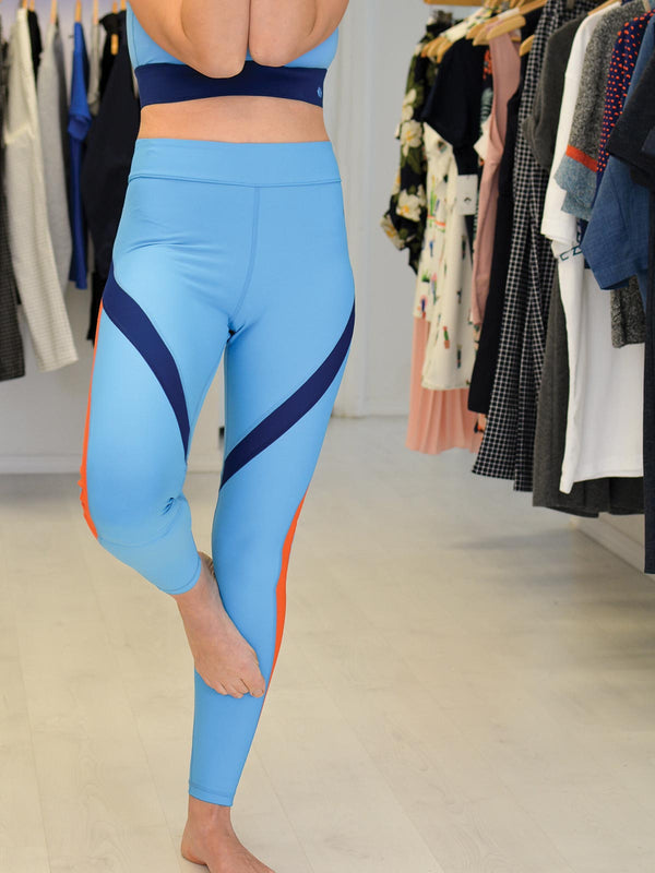 Blocked Out Blue Legging
