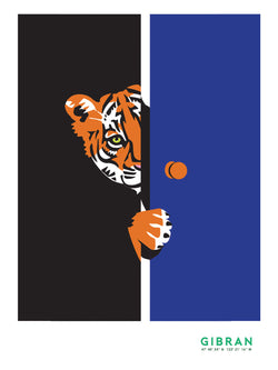 Tiger door Art Print