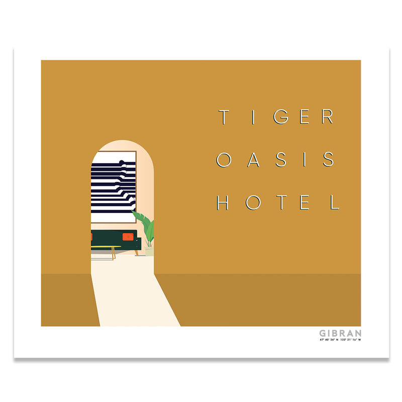 Tiger Oasis Hotel Entrance Art Print