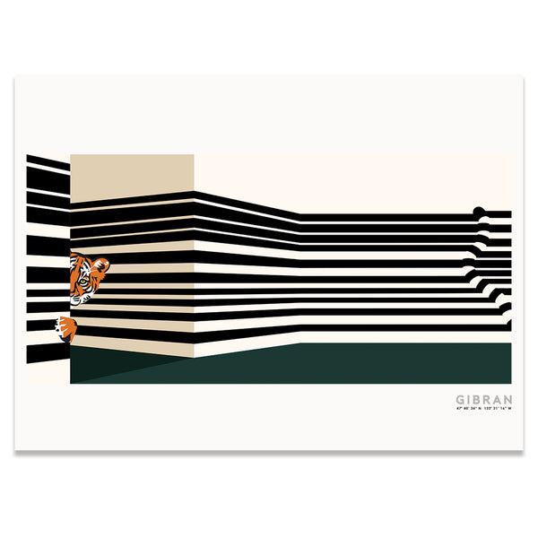Tiger Oasis Hotel Lobby Art Print