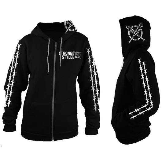 Barbed Wire Zip Up Hoodie (Black)