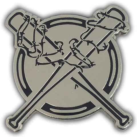 "Barbed Wire Bats Lapel Pin (1.5"")"