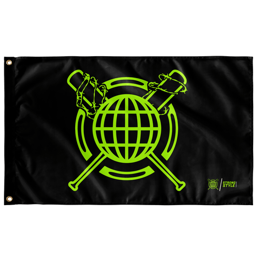 Global Bats Flag (Black)