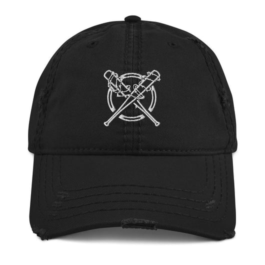 Barbed Wire Bats Distressed Dad Hat