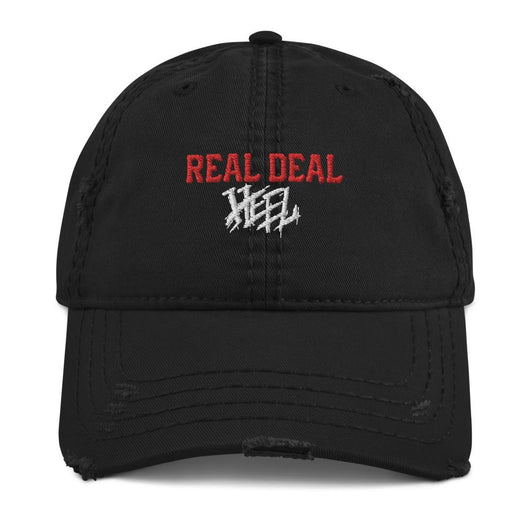 Real Deal Heel Distressed Dad Hat (Red/White)