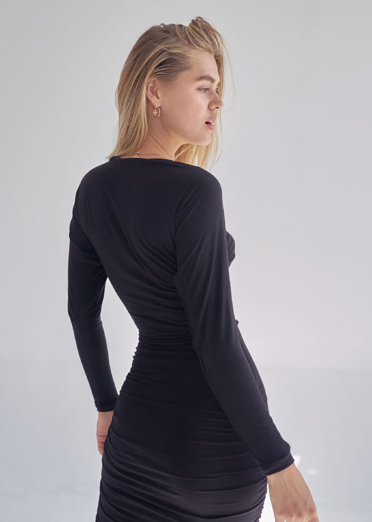 "BLACK ""LE OPERA"" KNIT DRESS"