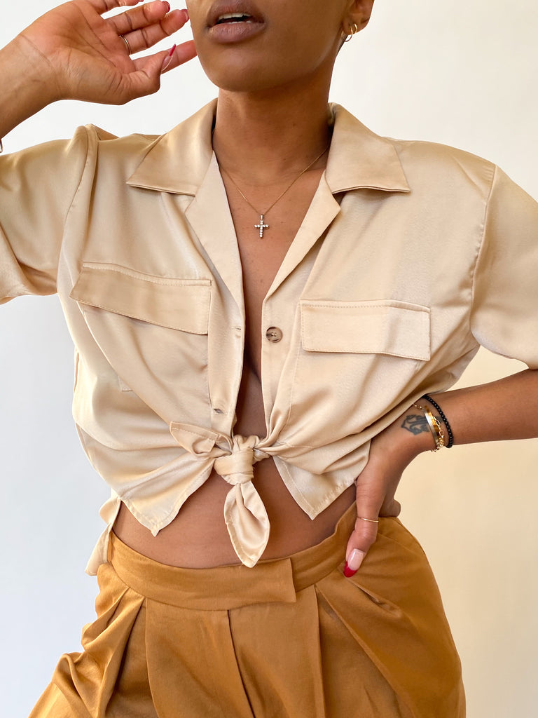 "BEIGE ""TAMAR"" RESORT SHIRT"
