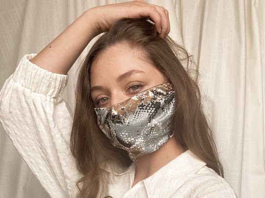 THE HEADBAND MASK - SATIN SNAKE PRINT