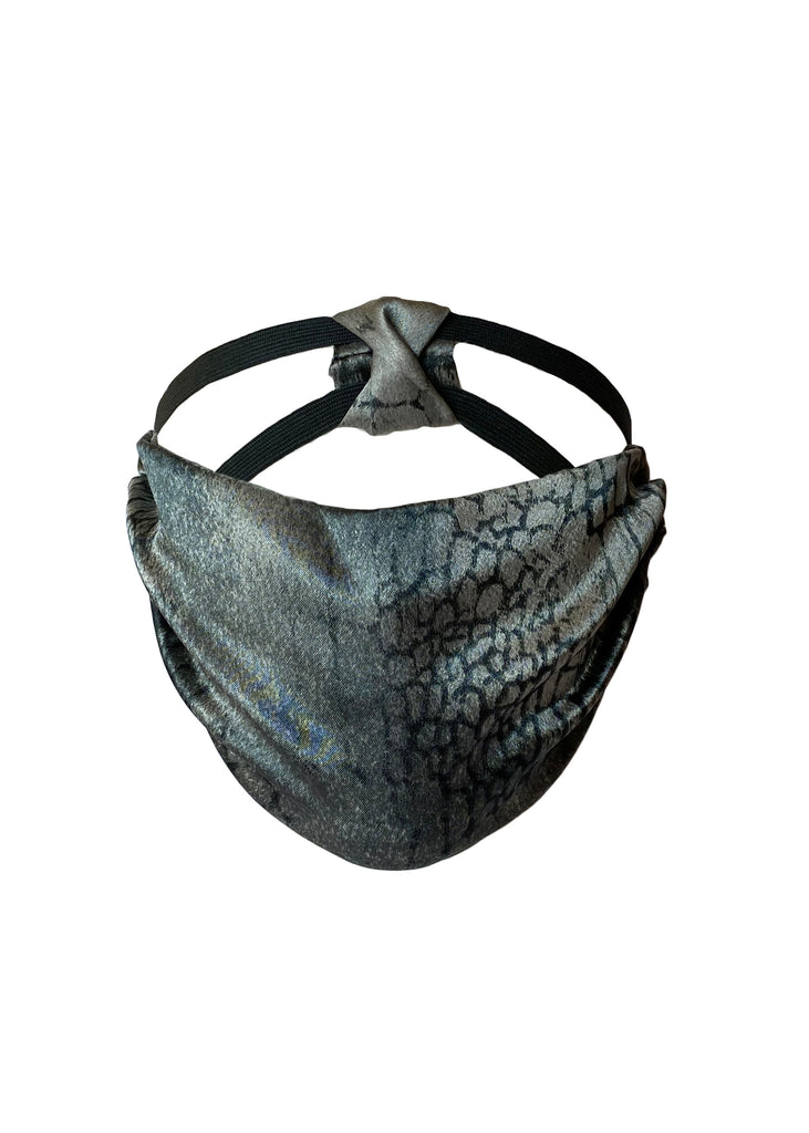 THE HEADBAND MASK - SATIN CROC PRINT