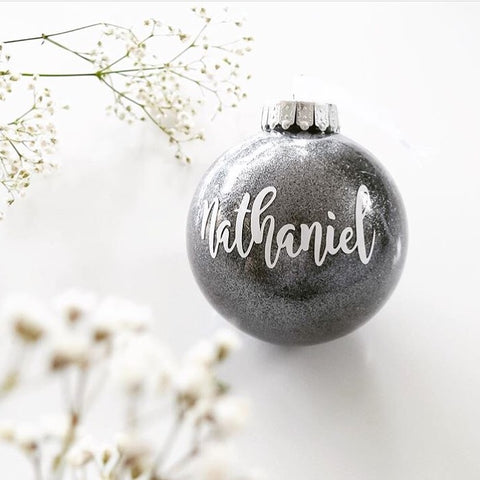 personalised photo christmas baubles