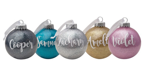 Personalised Christmas Bauble – Poppet & Pine