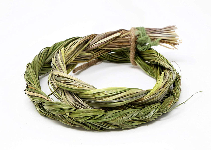 Spiritual Sweetgrass Smudge Stick Braided Coil