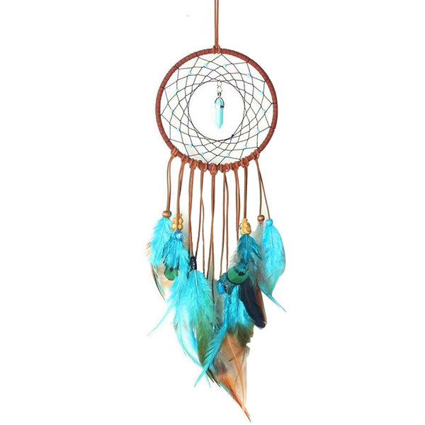 Handmade Dream Catcher Feather Colorful Living Room Garden Hanging Pendant Home Car Hanging Decor Dream Catcher Ornament Q4