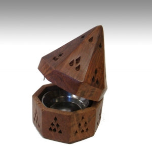 The Wooden Temple Charcoal Incense Burner