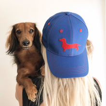Load image into Gallery viewer, Blue Sausage Dog Hat