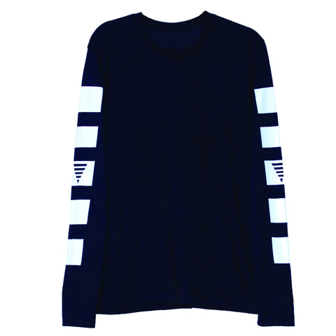 Future Blocked L/S T (Black/White)