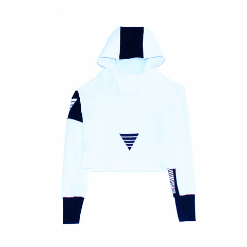 Hr Cropped in Arctic White (White/Black)