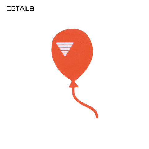 < Sent with Balloons > T in White/Tangerine