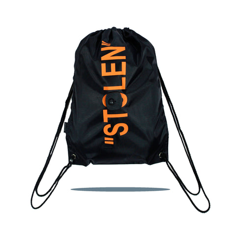 """STOLEN"" Cinch Pack in Black"
