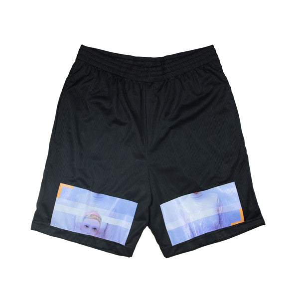 Sheena Layered Mesh Shorts (Black)