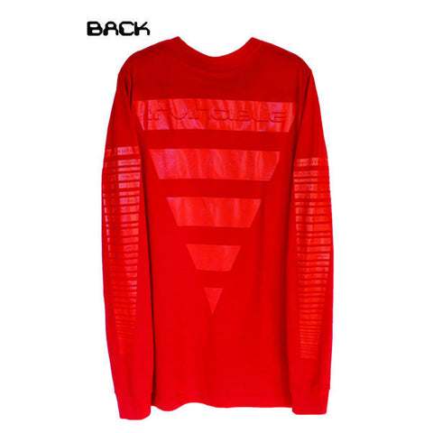 Blood on Tha Sleeves L/S T (Red)