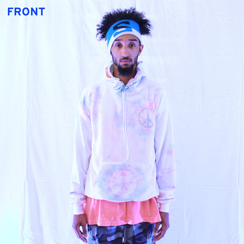 Cotton Candy Tie-Dyed Unisex Hoodie