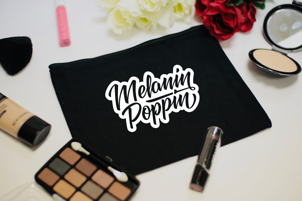 Melanin Poppin Cosmetic Makeup Bag