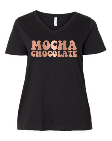 Mocha Chocolate (Bronze Foil) Curvy Collection