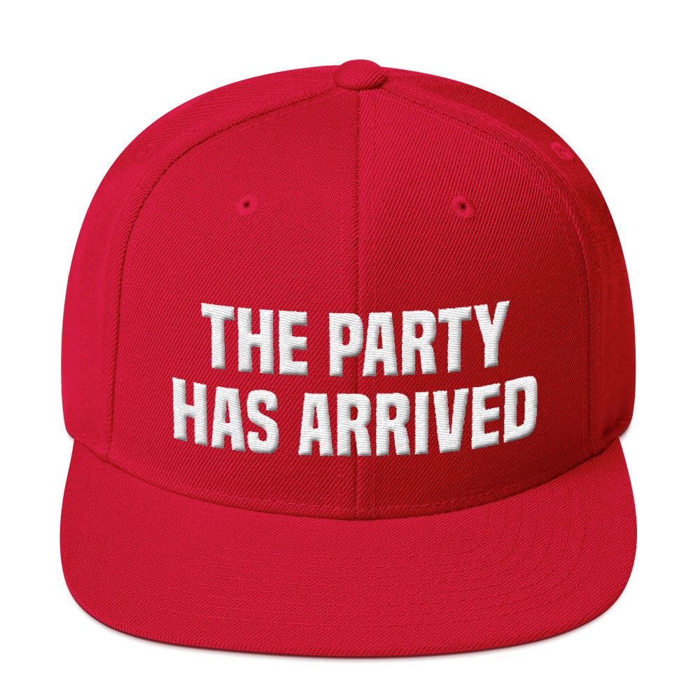 The Party Has Arrived Snapback Hat