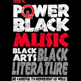 Power in Black Music, Black Arts, Black Literature