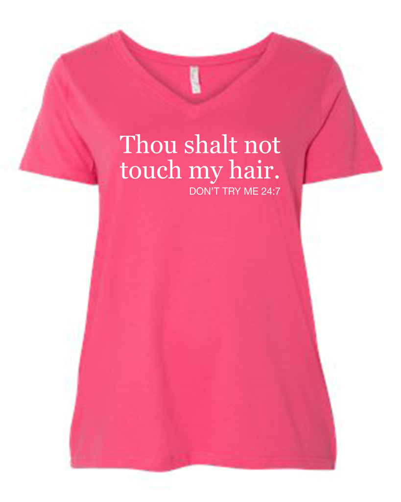 Thou Shall Not Touch My Hair Curvy Collection