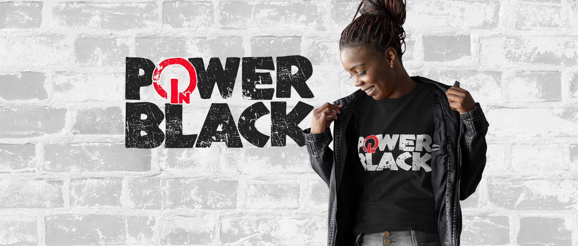 Power In Black Logo Tee