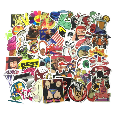 100 PCS Waterproof Stickers-No Duplicates-SALE