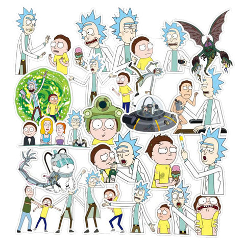 "100 PCS ""Rick & Morty"" Waterproof Stickers"