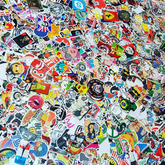 100 PCS Waterproof PVC Stickers- Random-No Duplicates