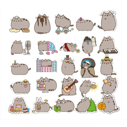 "100 PCS ""Plump Cat"" Waterproof Stickers-SALE"