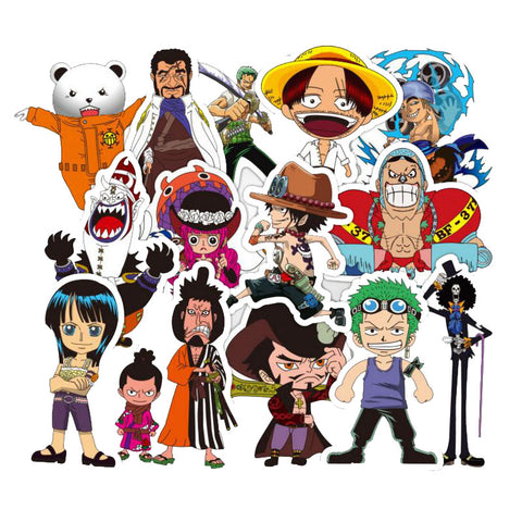 "45 PCS ""One Piece"" Waterproof Stickers"
