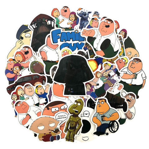 "50 PCS ""Family Guy"" Stickers-SALE"