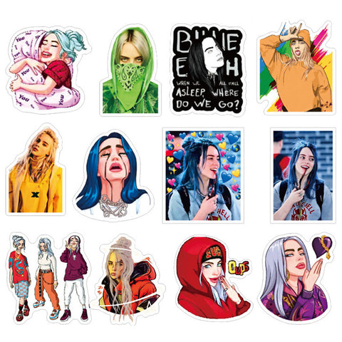 "50 PCS ""Billie Elllish"" Stickers"